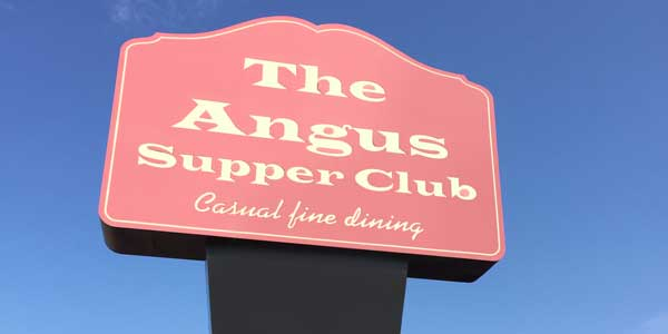 The Angus Supper Club sign