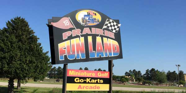 Prairie Fun Land sign